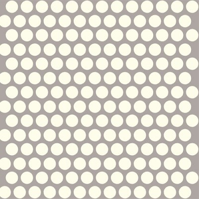 Mod Basics Organic MB-01 Cream on Shroom Dottie by Birch Fabrics