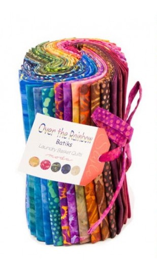 Over the Rainbow Batik 40 Fat Eighth Bundle by Laundry Basket for Moda