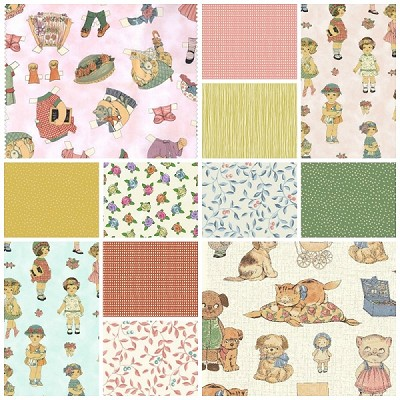 Paper Dolls 12 Piece Bundle by Sheryl Rae Marquez for Windham