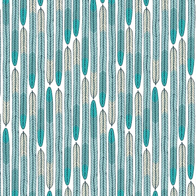 Biology Organic 1257-03 Turquoise Plumes by Sarah Watson for Cloud 9