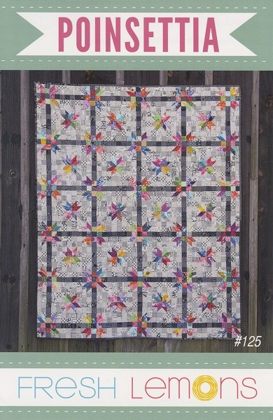Poinsettia Quilt Pattern by Fresh Lemons Quilts