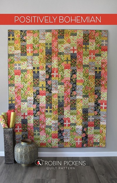 Positively Bohemian Quilt Pattern by Robin Pickens