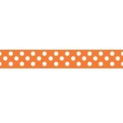 "Dots Grosgrain Ribbon 3/8"" Orange by Riley Blake"