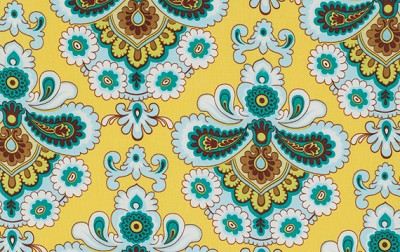 Belle PWAB111 Mustard French Wallpaper by Amy Butler
