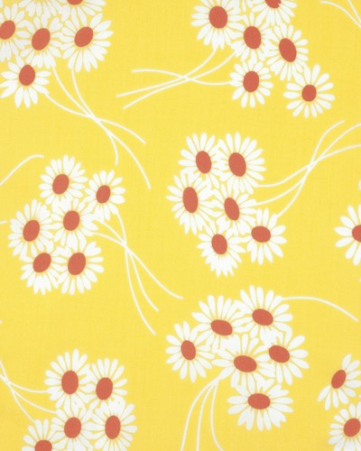 Katie Jump Rope PWDS108 Sunflower Daisy Bouquet by Free Spirit