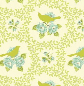Up Parasol PWHB042 Chartreuse Mockingbird by Free Spirit