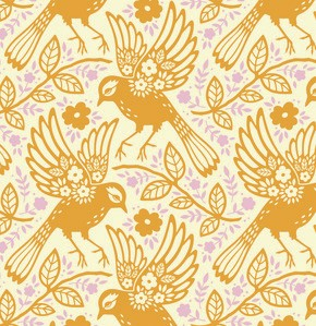 Up Parasol PWHB047 Tangerine Meadowlark by Free Spirit
