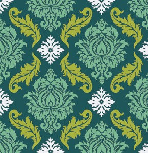 True Colors PWTC009 Turquoise Damask by Joel Dewberry for Free Spirit