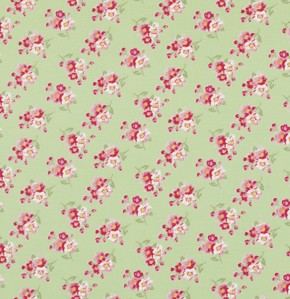 Rosey PWTW065 Green Cherry Blossom by Tanya Whelan for Free Spirit