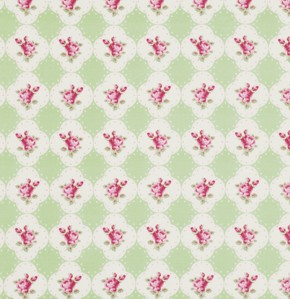 Rosey PWTW066 Green Cameo Rose by Tanya Whelan for Free Spirit