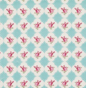 Rosey PWTW066 Teal Cameo Rose by Tanya Whelan for Free Spirit