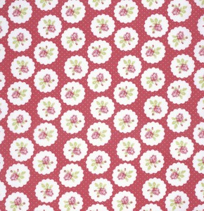Lulu Roses PWTW094 Red Lotti by Tanya Whelan for Free Spirit
