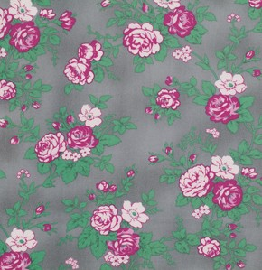 Billet-Doux PWVM092 Smoke Full Bloom by Verna Mosquera for Free Spirit