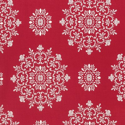 Peppermint Rose PWVM179 Cranberry Snow Crystals by Free Spirit