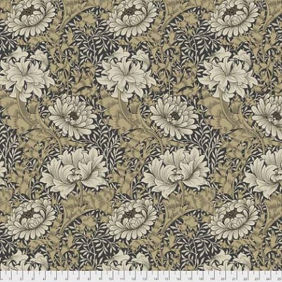 Merton PWWM009 Taupe Chrysanthemum by Morris & Co for Free Spirit