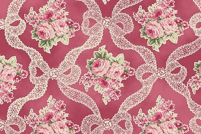 RURU Bouquet RU2200-13E Rose Ribbons and Roses by Quilt Gate