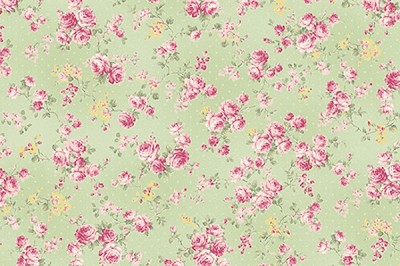 RURU Bouquet RU2200-17C Green Medium Floral by Quilt Gate EOB