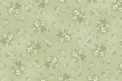 RURU Bouquet RU2200-20C Green Tonal Small Floral by Quilt Gate