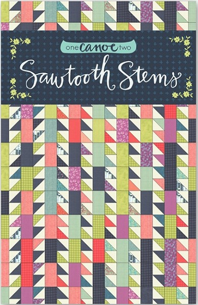 Sawtooth Stems Quilt Pattern by 1 Canoe 2