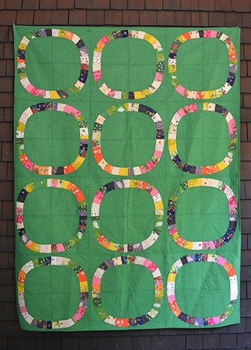 Single Girl Lawn Quilt Kit in Green by Heather Ross for Windham