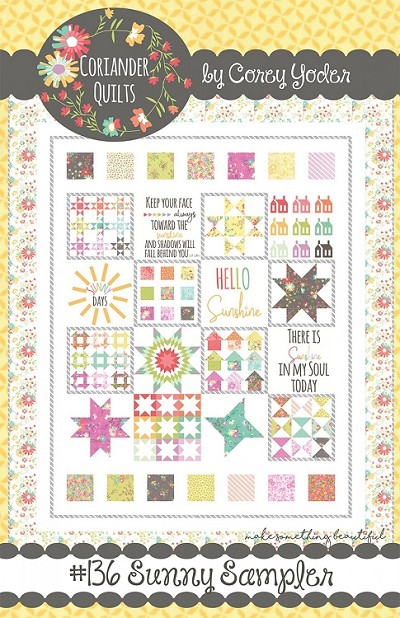 Sunny Sampler Quilt Pattern by Coriander Quilts