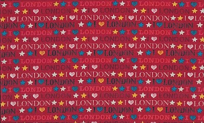 London 985-R Red I Luv London by Makower UK
