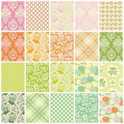 Up Parasol 20 Fat Quarter Set by Heather Bailey for Free Spirit