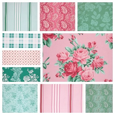 Veranda 10 Fat Quarter Set by Verna Mosquera for Free Spirit
