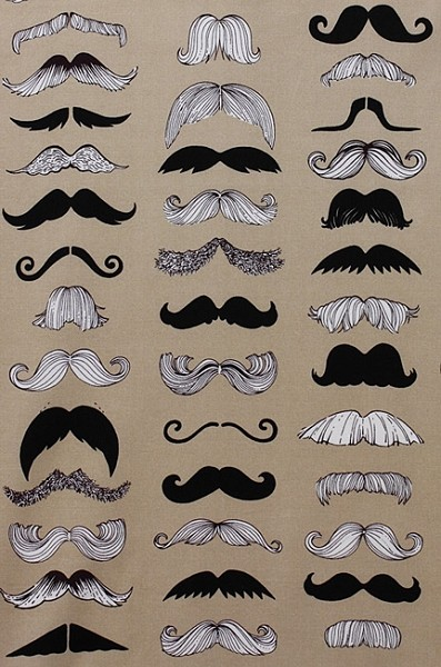 Where's My Stache 7567-B Taupe by Alexander Henry
