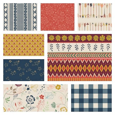 Wild & Free 8 Fat Quarter Set by Maureen Cracknell for Art Gallery