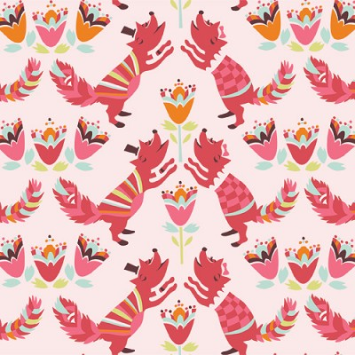 Yay Day Organic EI-06 Lovely Fox by Emily Isabella for Birch
